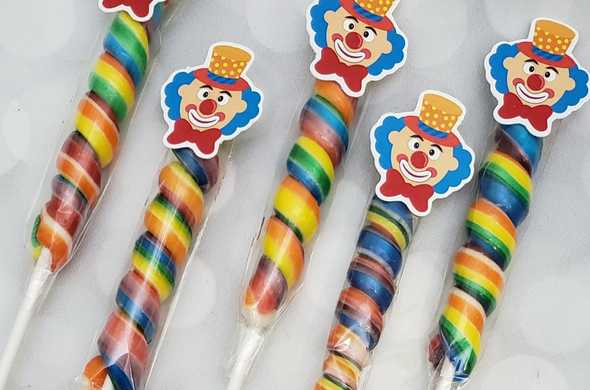 Purim Clown Candy Stick