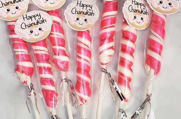 Chanukah Lollies - Pink