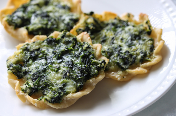 Gluten Free Spinach Tarts (Passover)