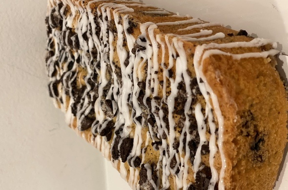 Vanilla Oreo Drip Loaf