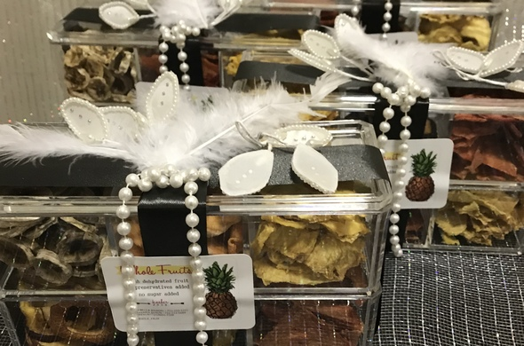 Dehydrated Fruit in Double Stacked Lucite