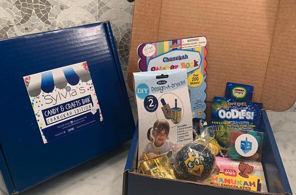 Chanukah Candy & Crafts Box (Cholov Yisrael)