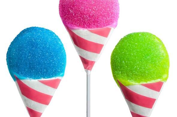 Snow Cone Lollipops
