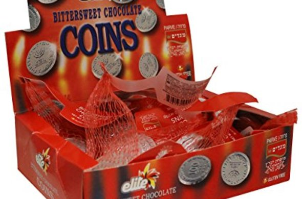 Chocolate Silver Coins in Mesh