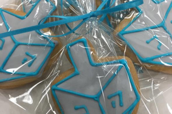 Hanukah Dreidel Cookies