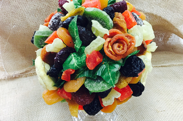 Dried Fruit Topiary