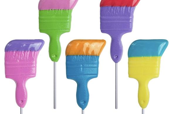 Paintbrush Lollipops