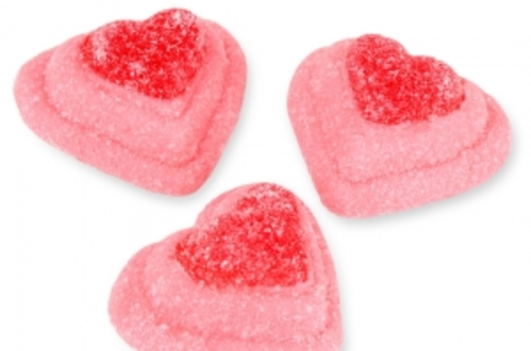 Jelly Two Layer Hearts