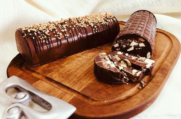 Chocolate Truffle Log