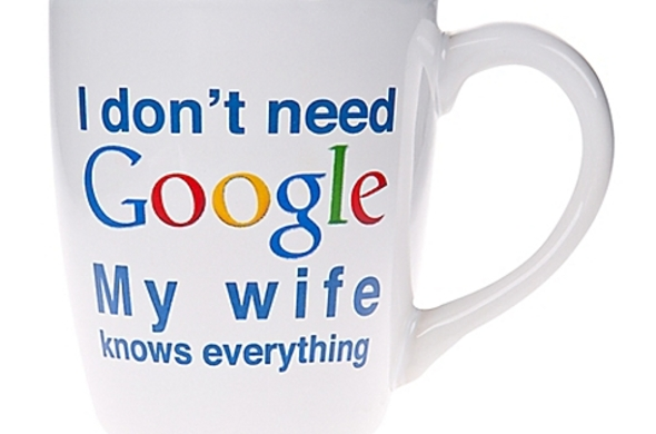 """My Wife Knows EVERYTHING"" Mug"