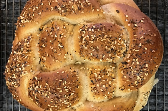 Challah- everything- Whole spelt  - Flavorfulfit approved