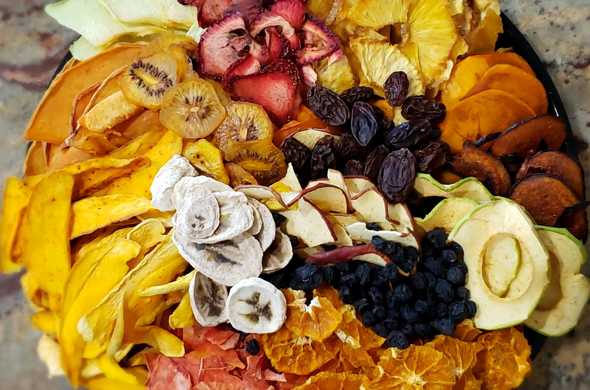 12 inch dehydrated fruit platter