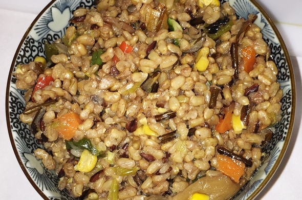 Brown Rice with Diced Vegetables