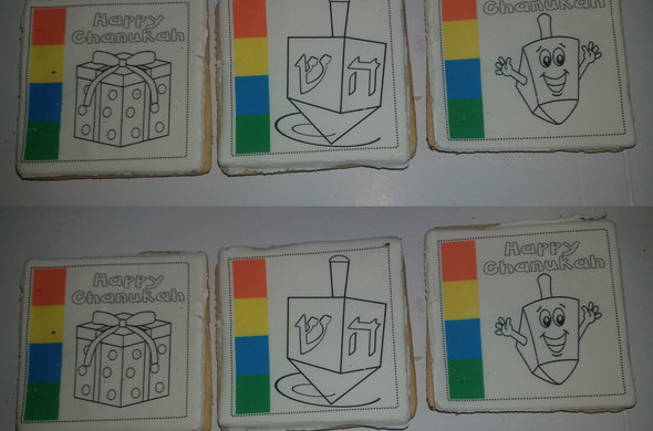 Chanukah Paint-It Cookies (Assorted)