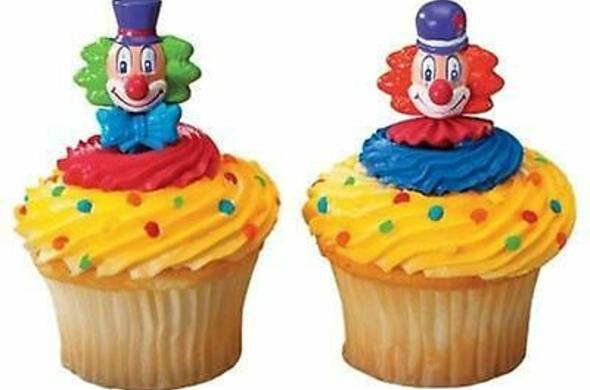 Assorted Clown Cupcakes