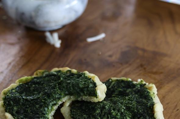 Gluten Free Spinach Tarts - Parve