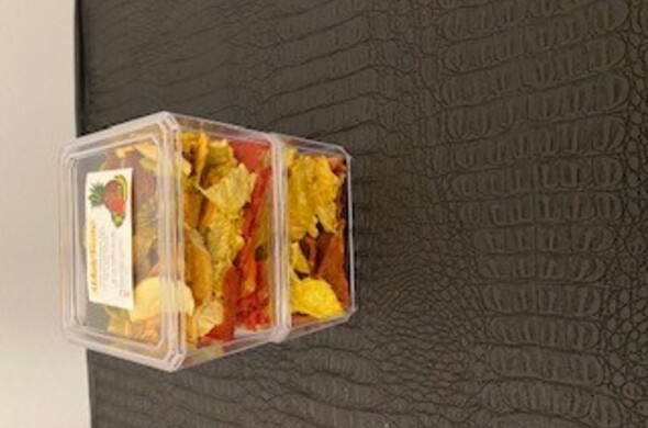 2 Large Stacked Lucite w/ Dehydrated Fruit