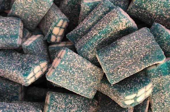 Sour Blue Raspberry Bricks