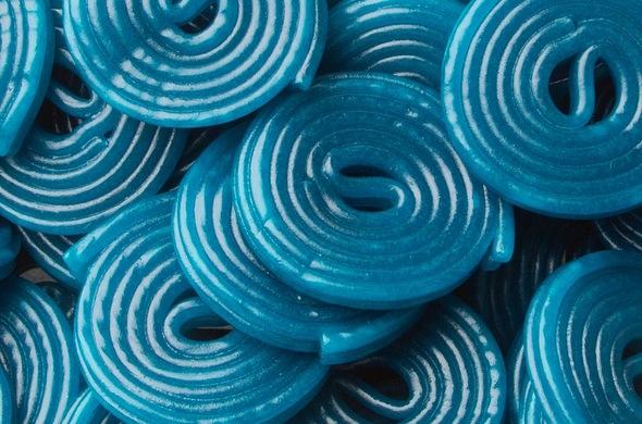 Blue Licorice Spirals