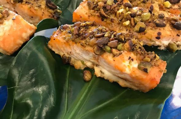 Pistachio & Citrus Wild Salmon