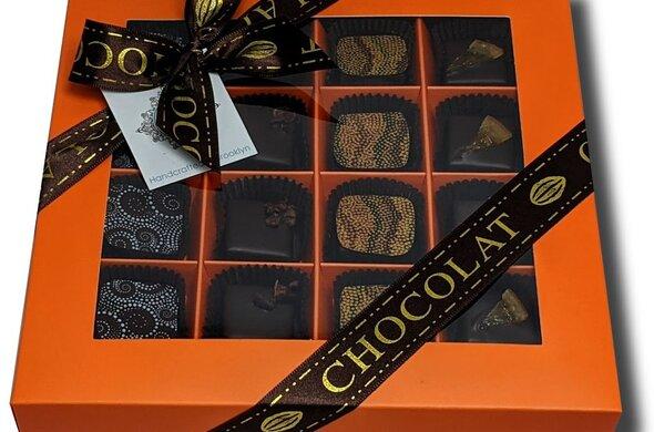 16pc Artisan Chocolate Gift Box - MANDARIN color