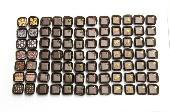 6pc Artisan Chocolate One Choice of Flavor