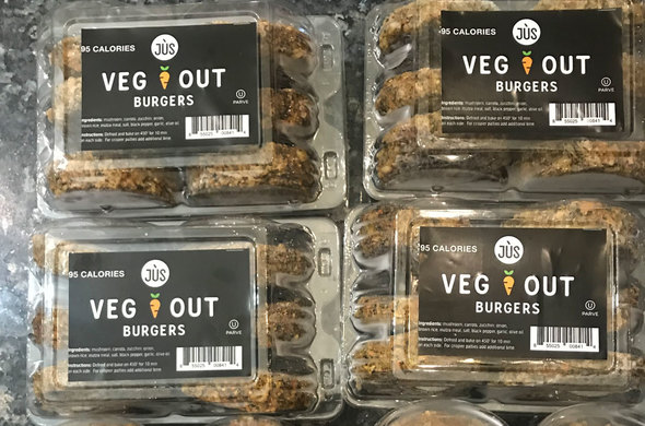 Mushroom w/ Vegetables Veggie Burger
