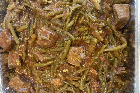 String Beans with Meat