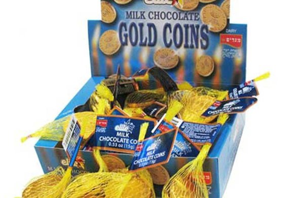 Chocolate Gold Coins in Mesh
