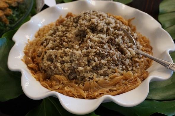 Cauliflower Mejedra w/ Onions