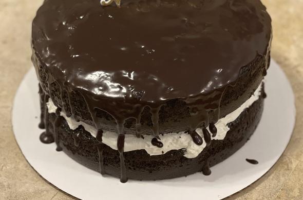 Chocolate Cake w/ Cream Filling