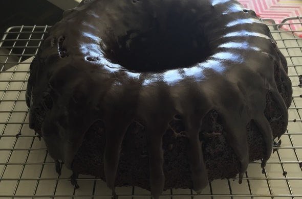 Chocolate Bundt Cake w/ Glaze