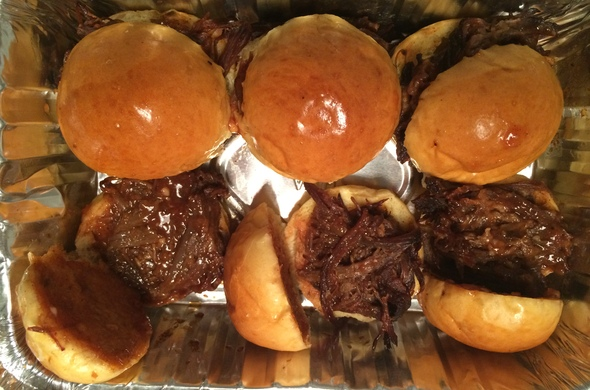 Pulled Beef Sliders
