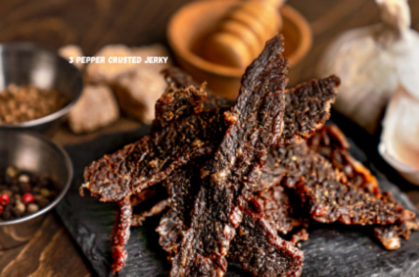 3 Pepper Crusted Whole Muscle Jerky